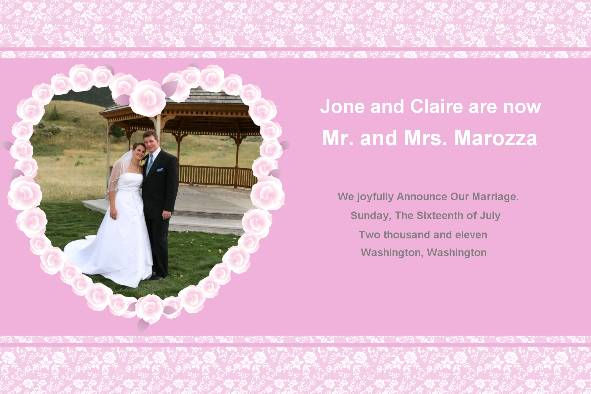wedding announcement templates wedding invitations thank you cards, Wedding invitation
