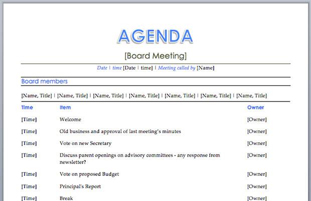 Best Meeting Agenda Template sample planning 9 free documents – Best Meeting Agenda Template