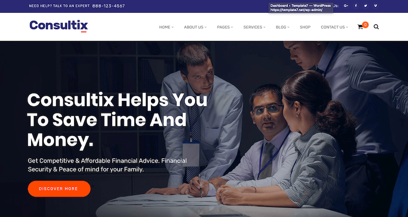 Business Consulting WordPress Themes