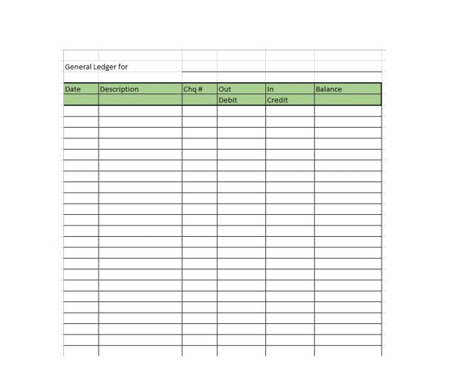 Self Employment Ledger Template Excel - FREE DOWNLOAD