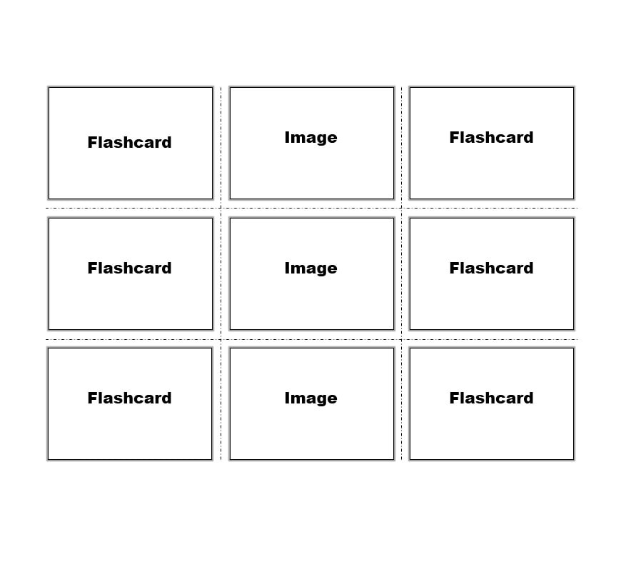 30 Simple Index Flash Card Templates Free Template