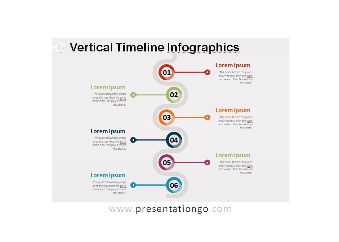 46 Beautiful Vertical Timeline Templates