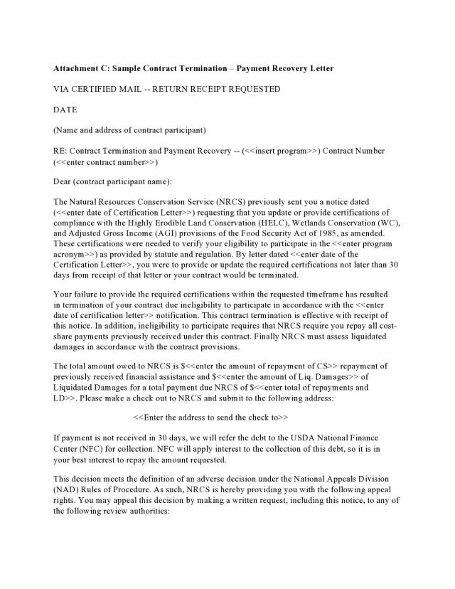 17 Editable Contract Termination Letters (FREE) - TemplateArchive
