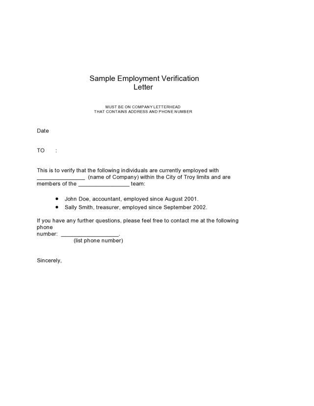 17 Employment Verification Letter Samples [Word, PDF