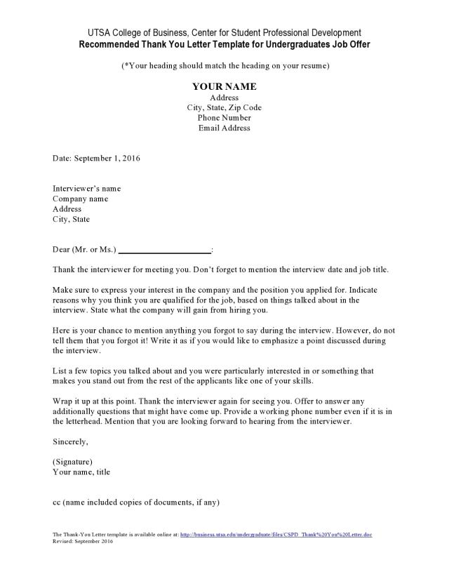 25 Professional Thank You Letters For Job Offer (Free)