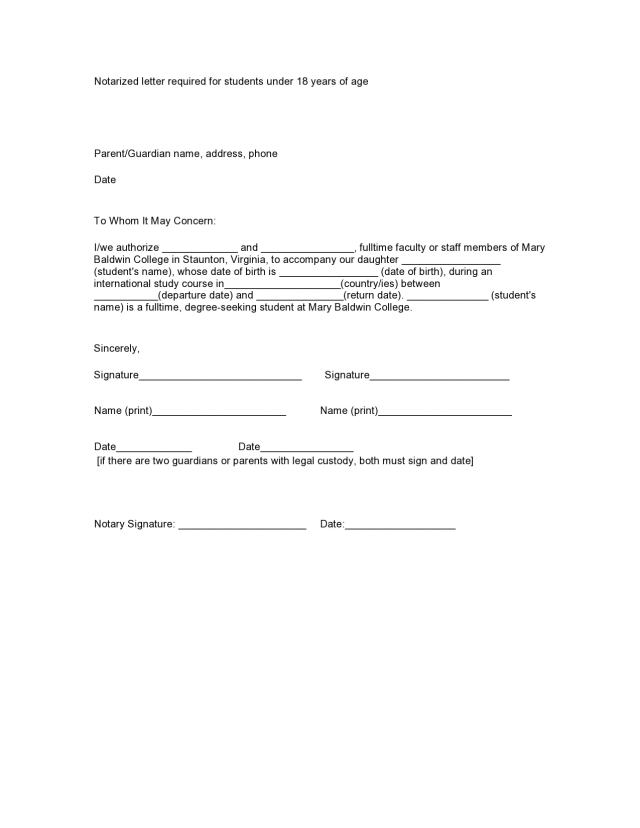 27 Free Notarized Letter Templates Notary Letters - TemplateArchive