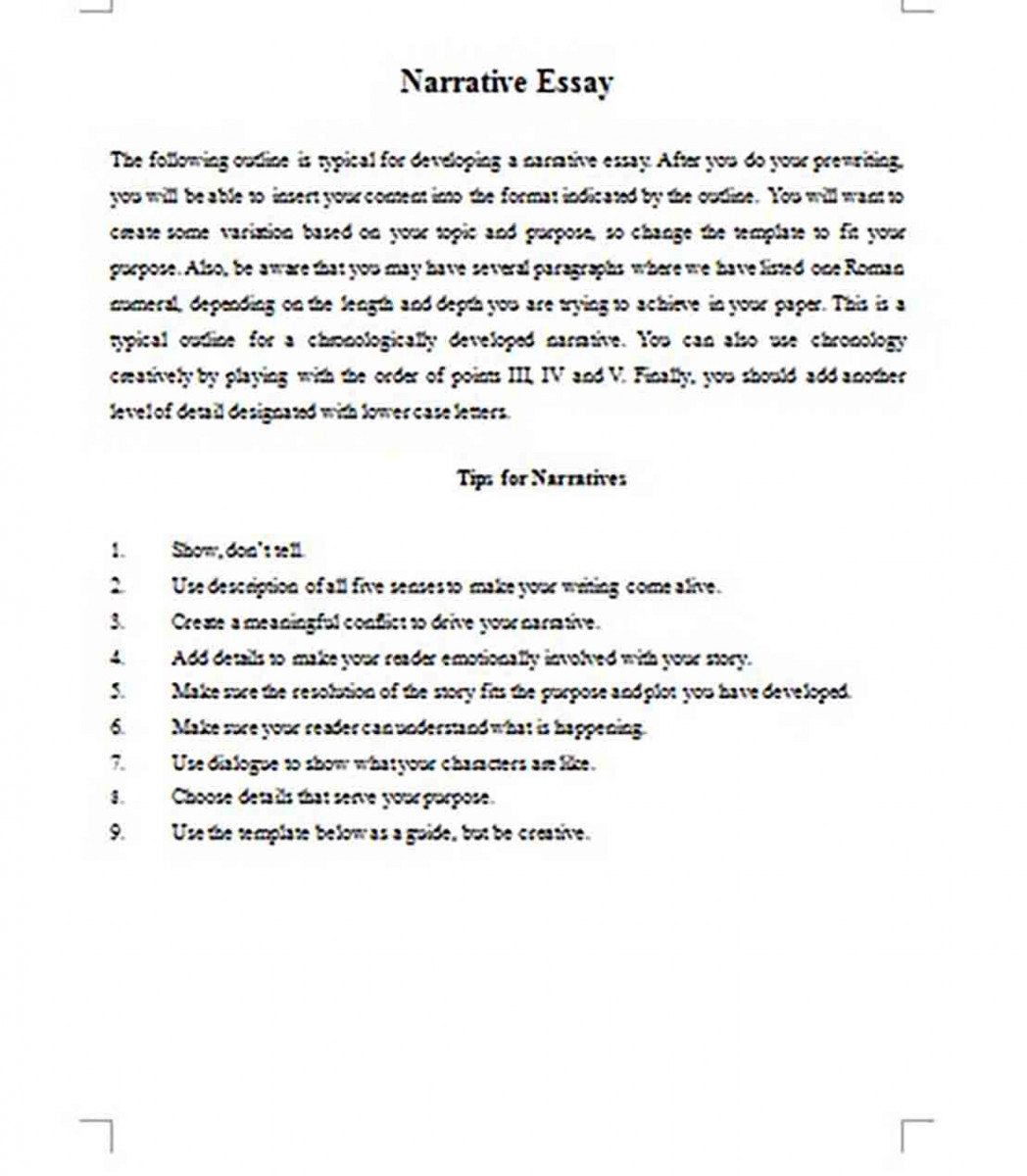 Essay Outline Example And How To Write A Good Outline