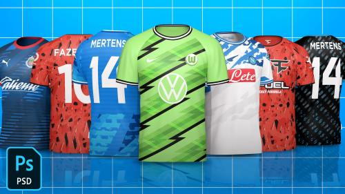 Download ESports Jersey Template Mock-Up FREE - Template FC FREE