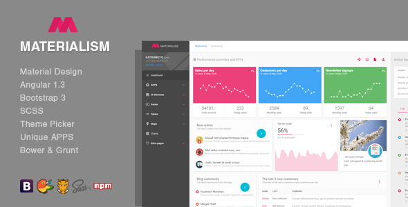 25 free material design html5 templates available for download