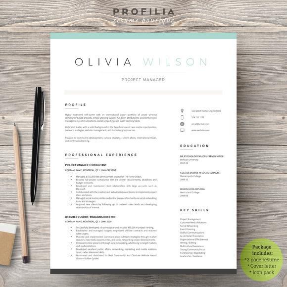 28 minimal amp creative resume templates psd word amp ai free