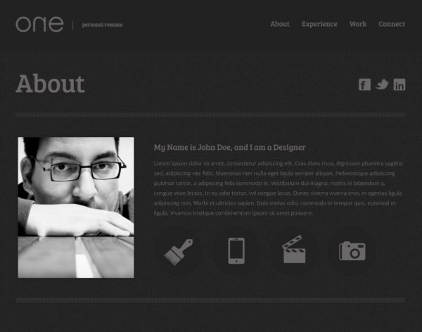23 professional html amp css resume templates for free download and