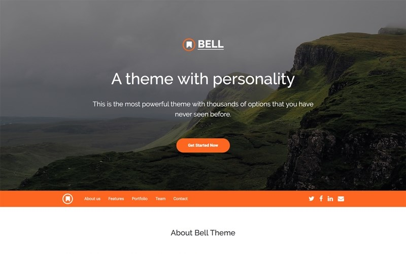 bell bootstrap 4 theme