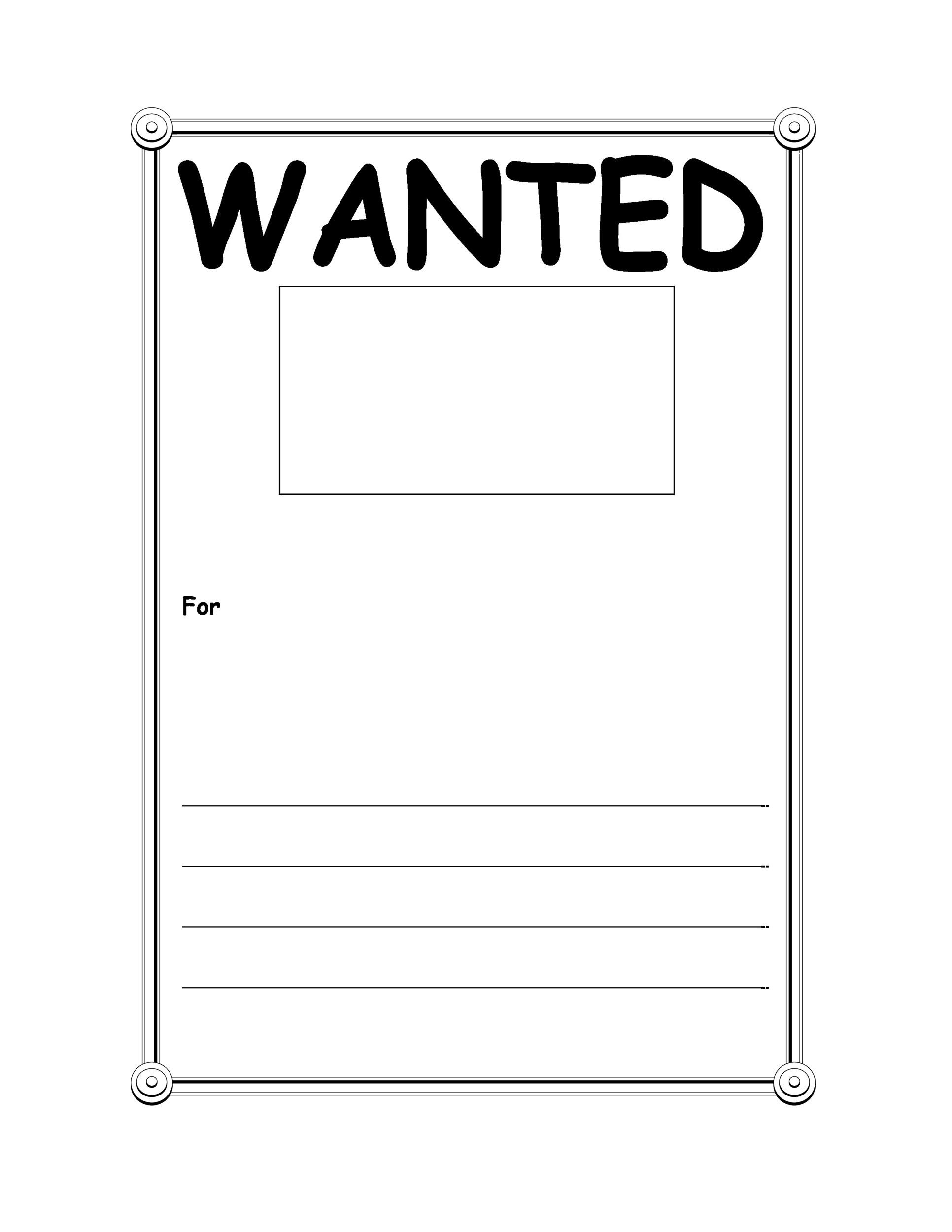 Reward Posters Template wanted poster book report projects – Printable Wanted Poster Template