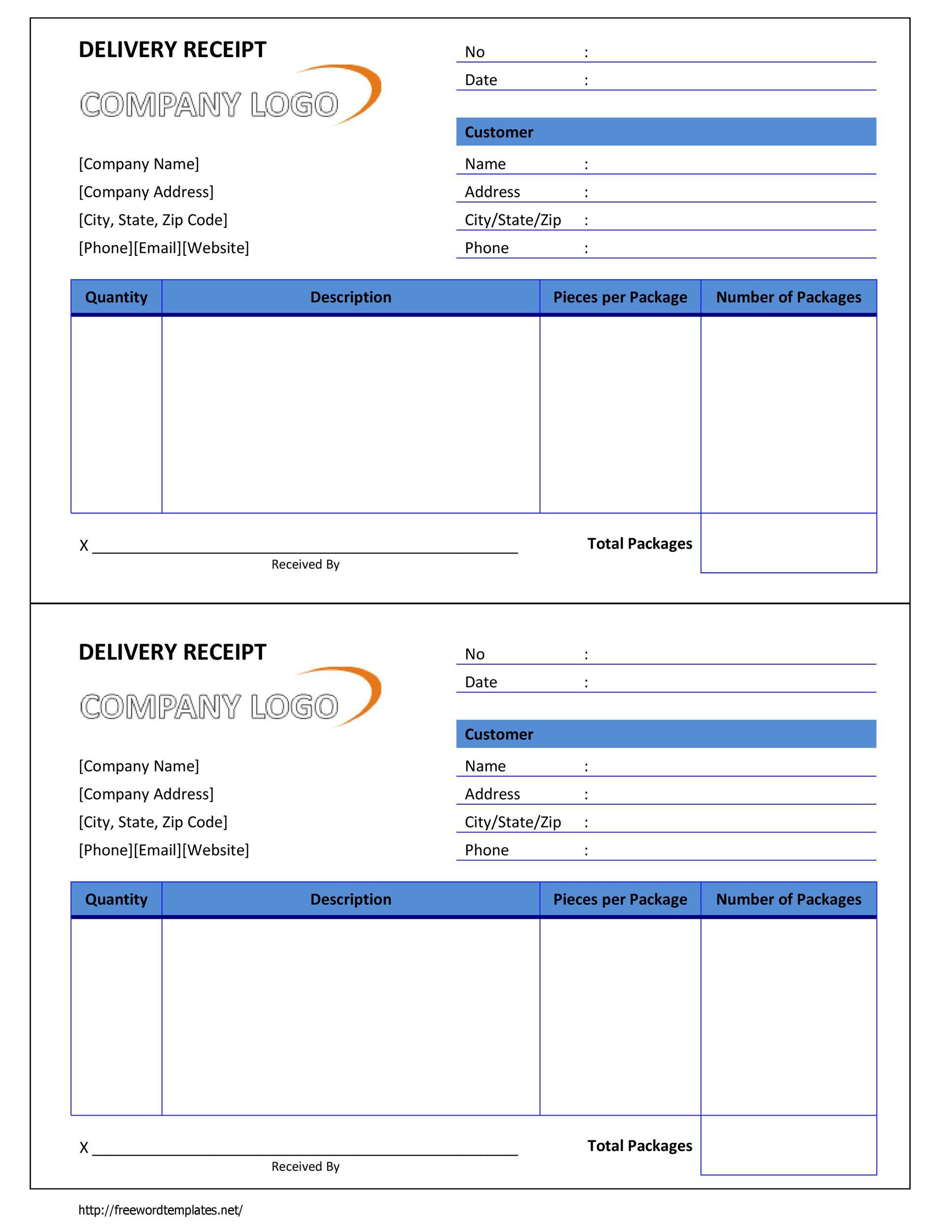 Receipt Of Payment Template payment receipt template easy receipt – Receipt for Payment Template Free
