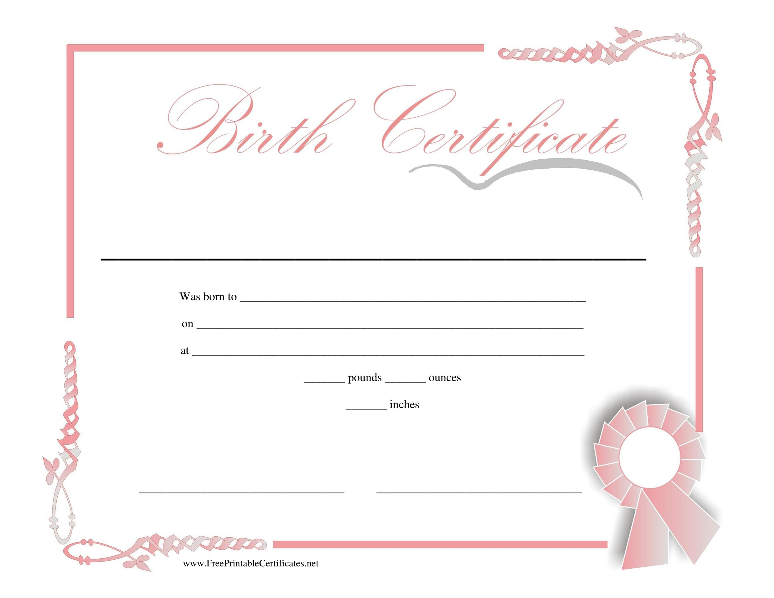 15 Birth Certificate Templates Word Amp Templatelab