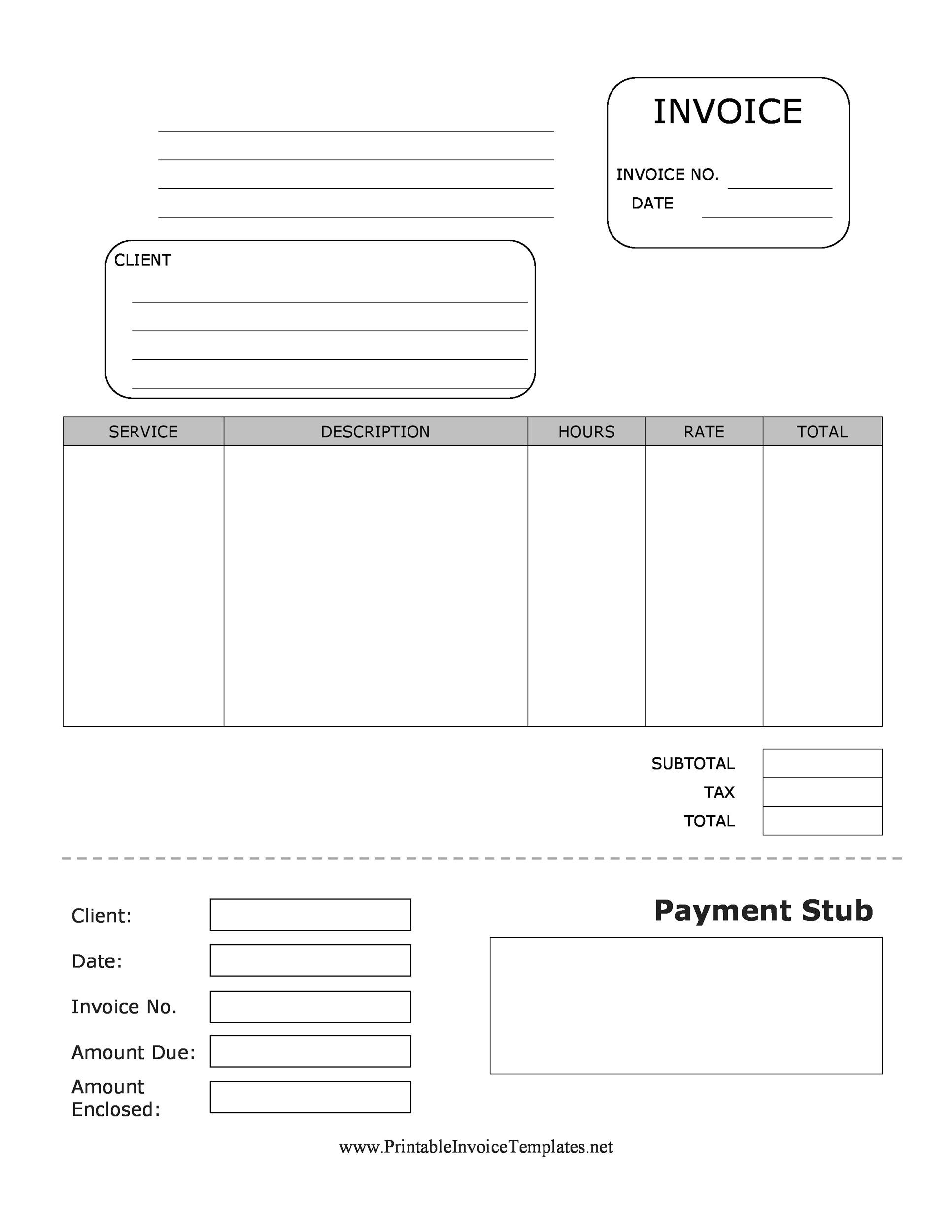 Pay Advice Template template photography invoice template word – Blank Wage Slips
