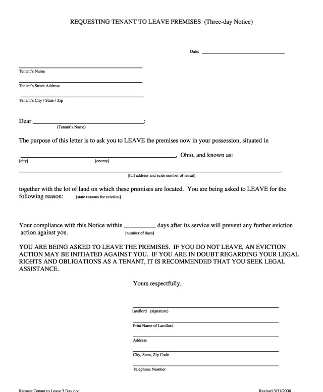 45 Eviction Notice Templates Lease