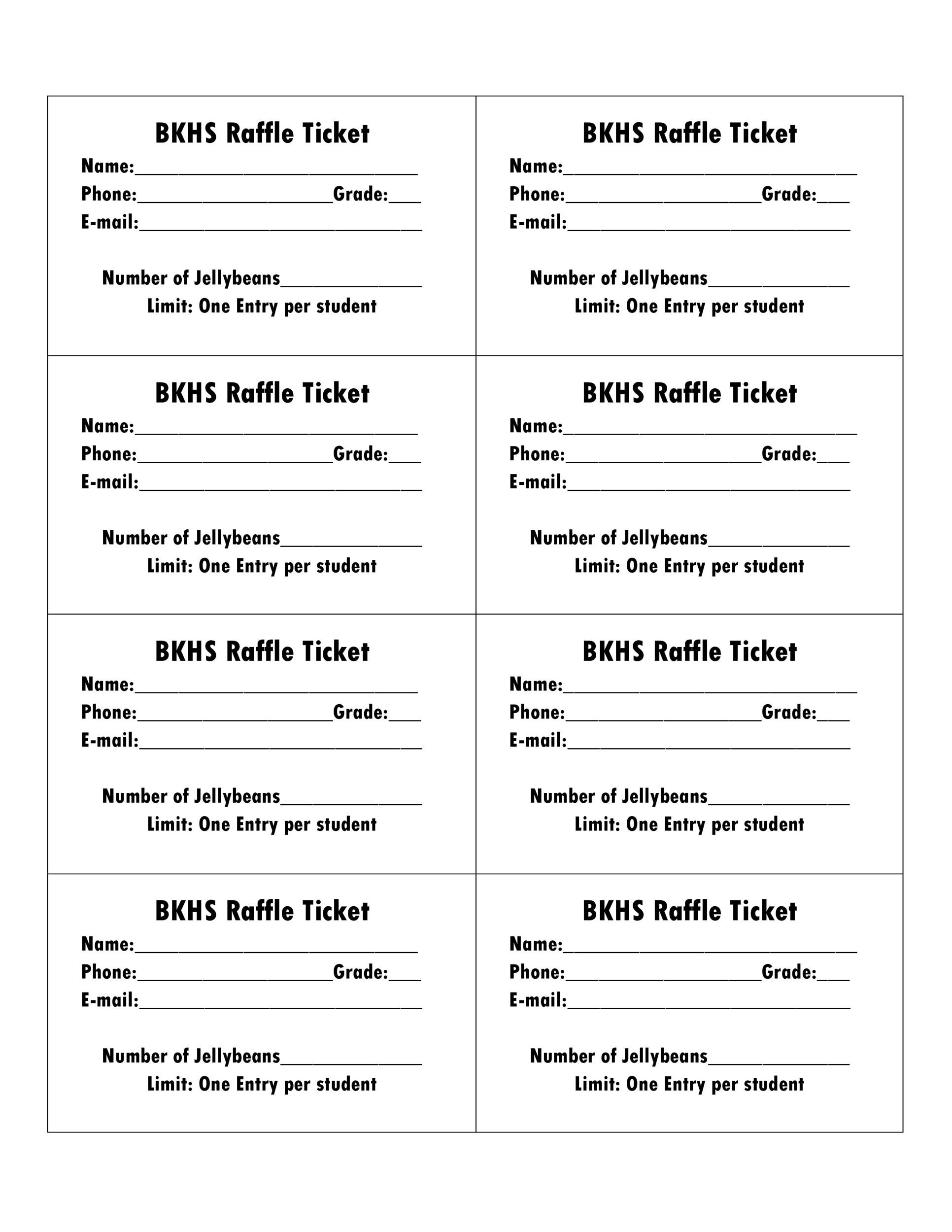 Fundraising Tickets Templates for lottery sample of lottery – Sample Tickets for Fundraisers