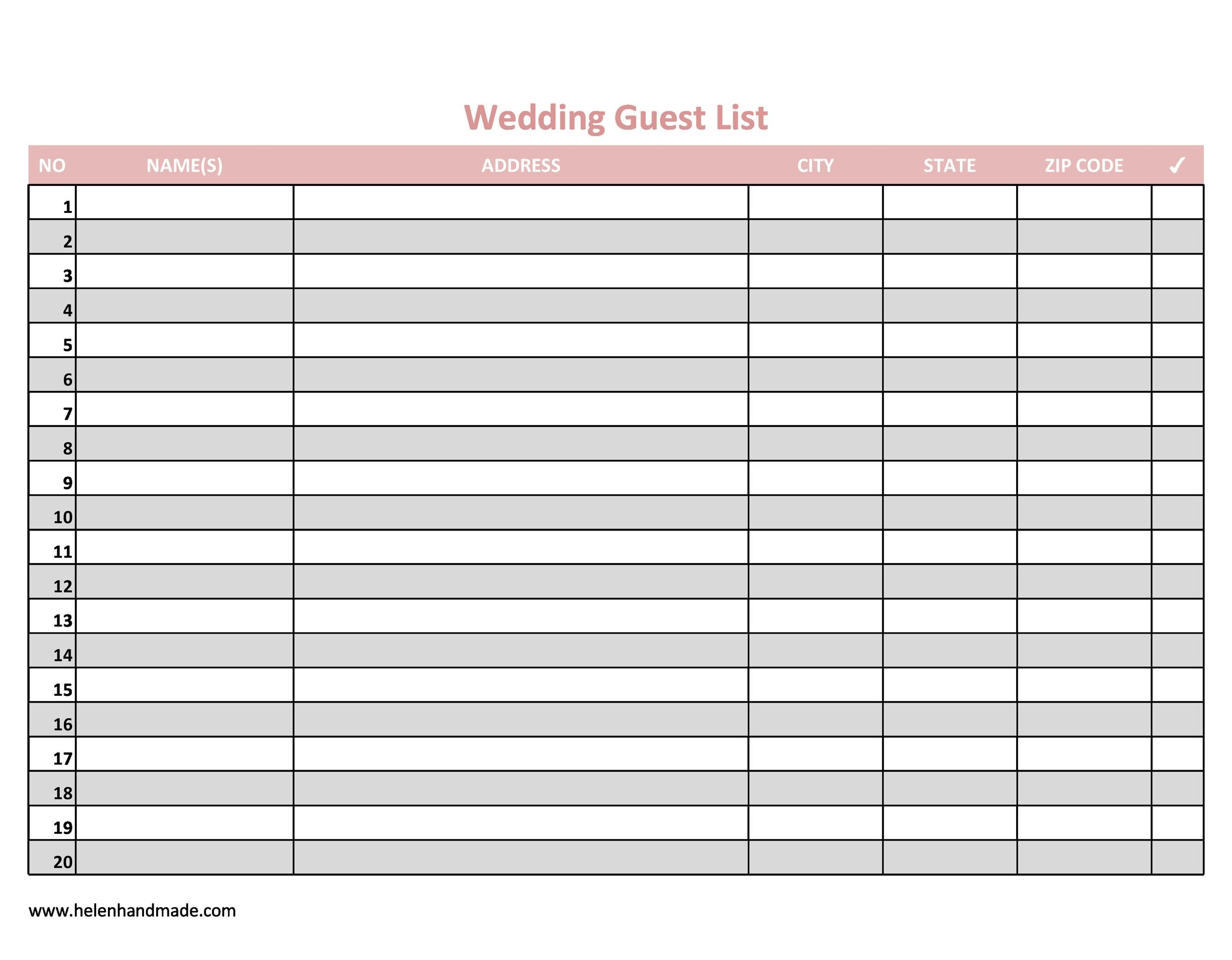 35 Beautiful Wedding Guest List Amp Itinerary Templates