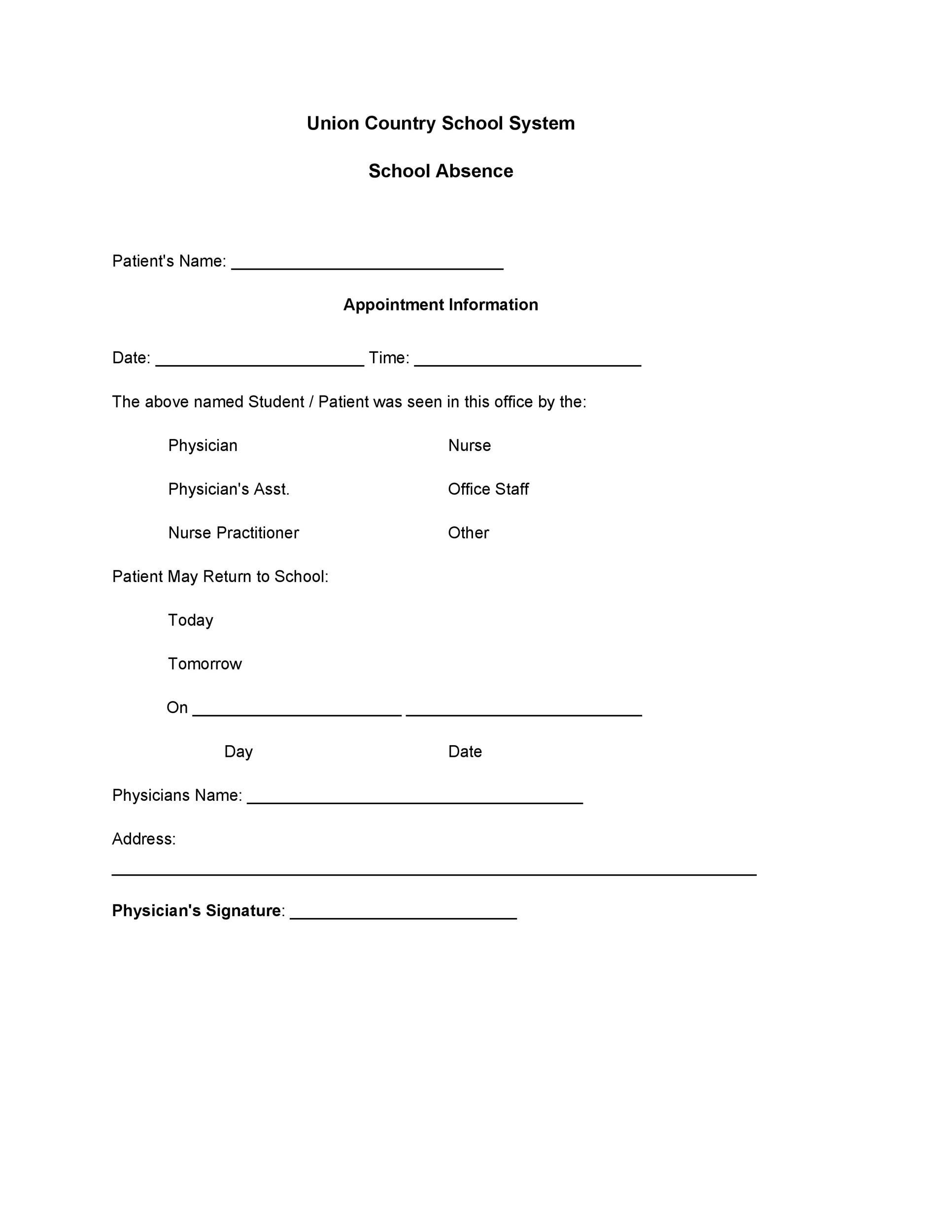 Printable Minute Cvs Clinic Note Doctors
