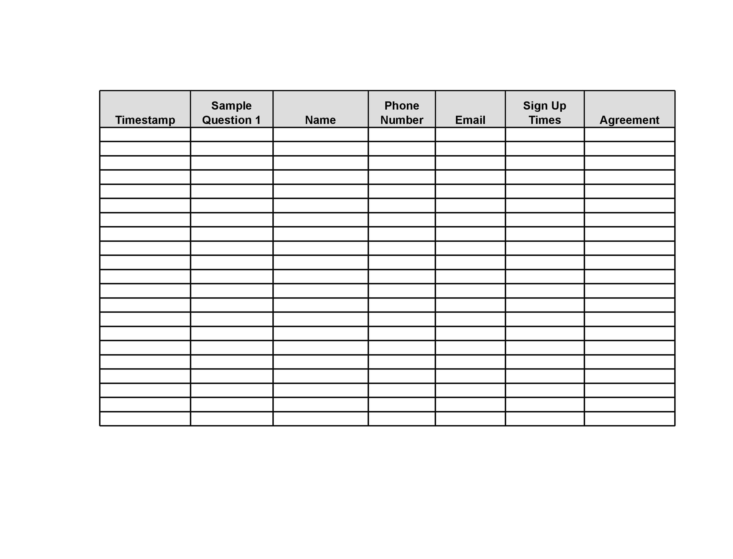 Event Planning Sheet Template guide via juice marketing group 9 – Sample Event Sign in Sheet Template