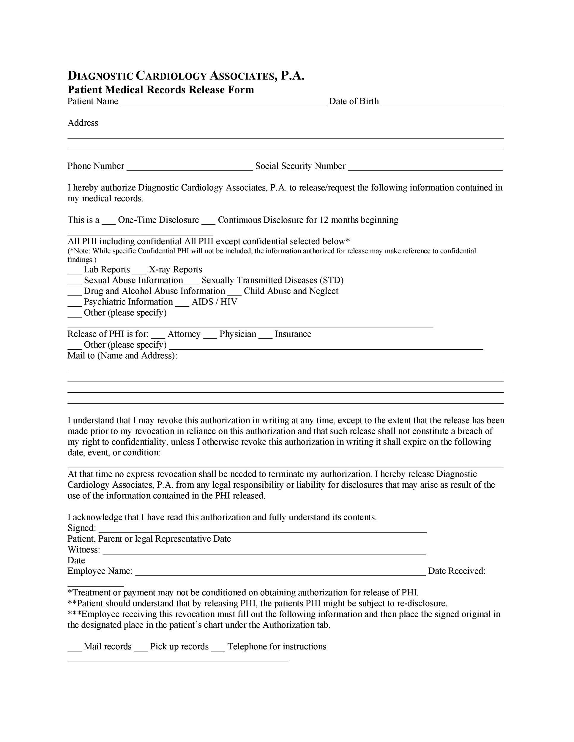 Medical Release Form Template 30 medical release form templates – Printable Medical Release Form for Children