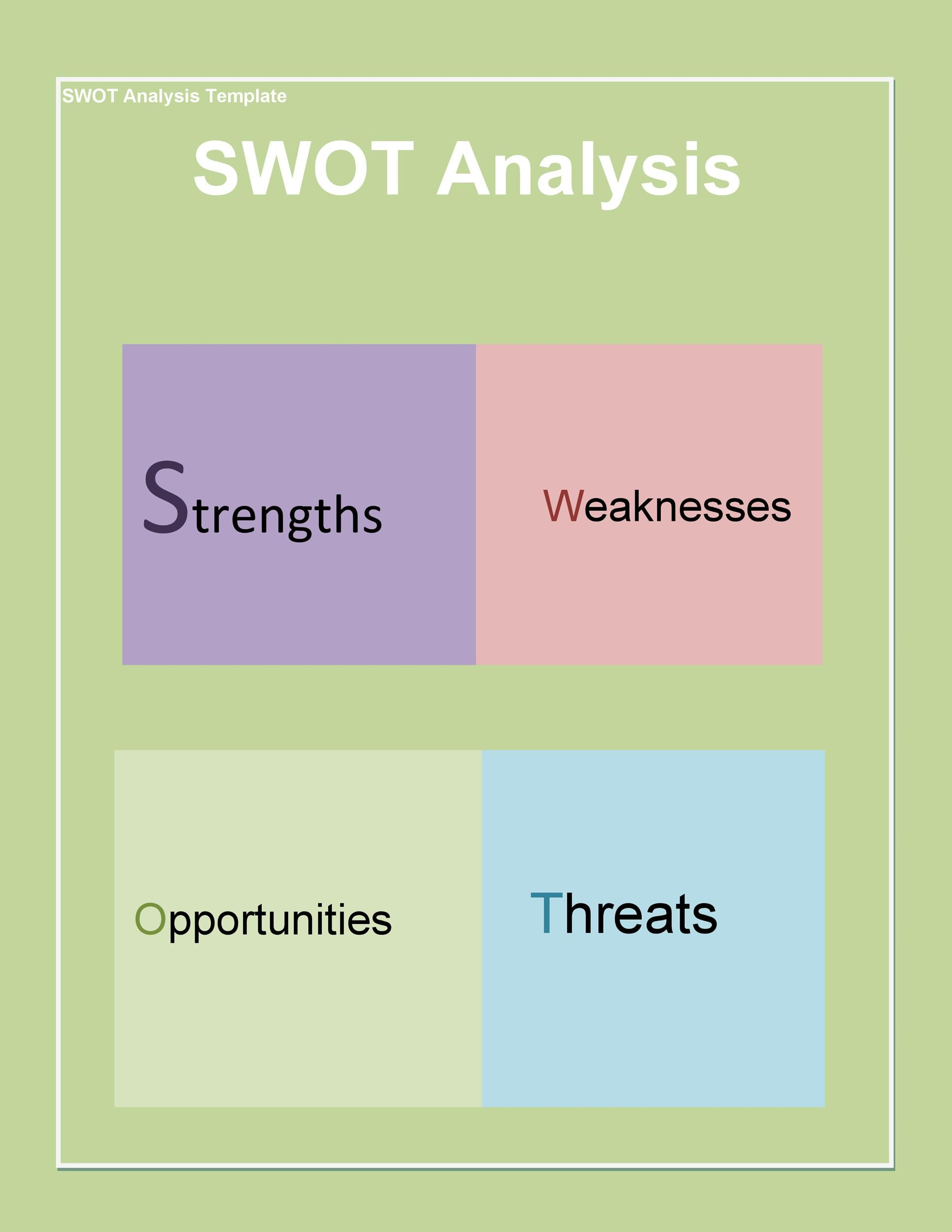 Example Swot Analysis Template software download free for – Example Swot Analysis Paper