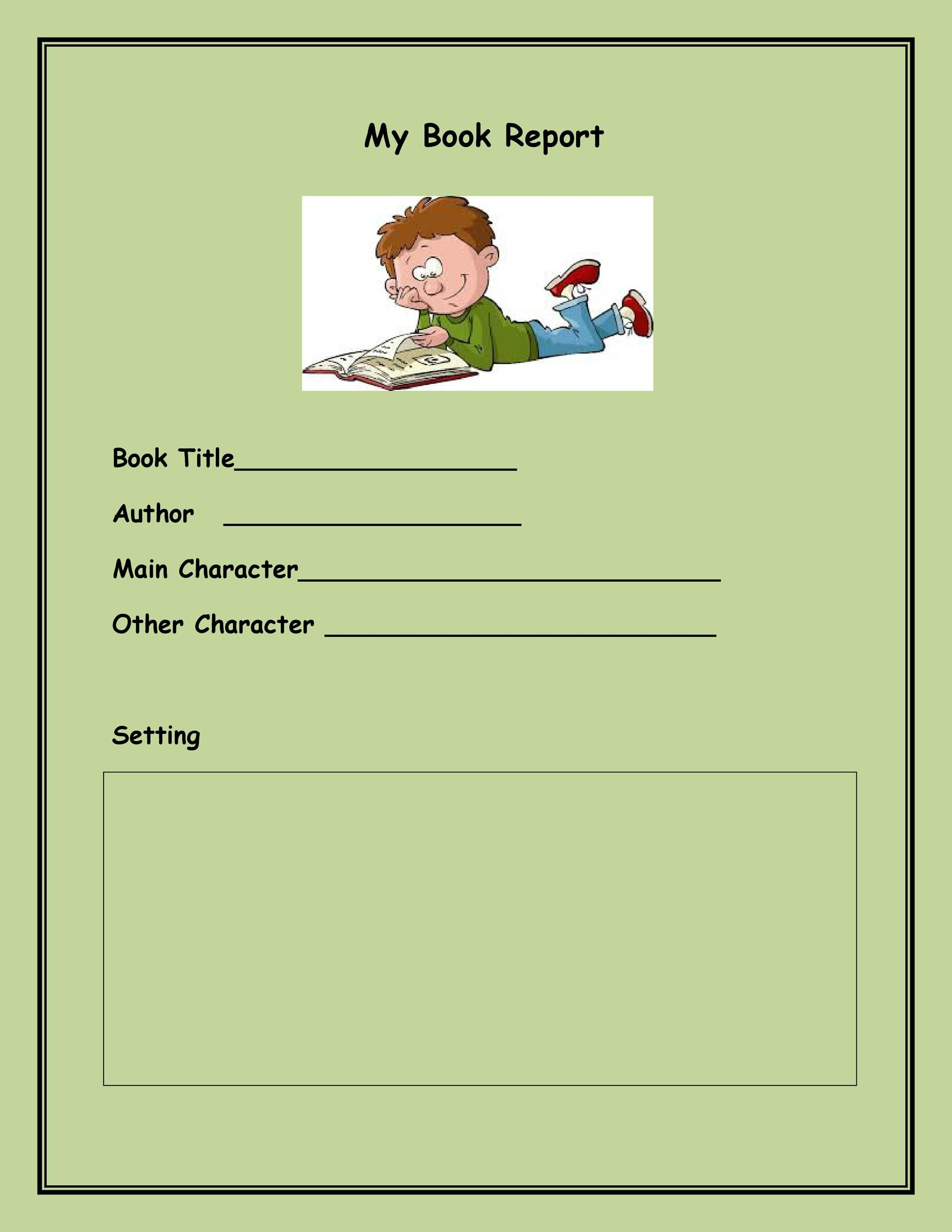30 Book Report Templates Amp Reading Worksheets