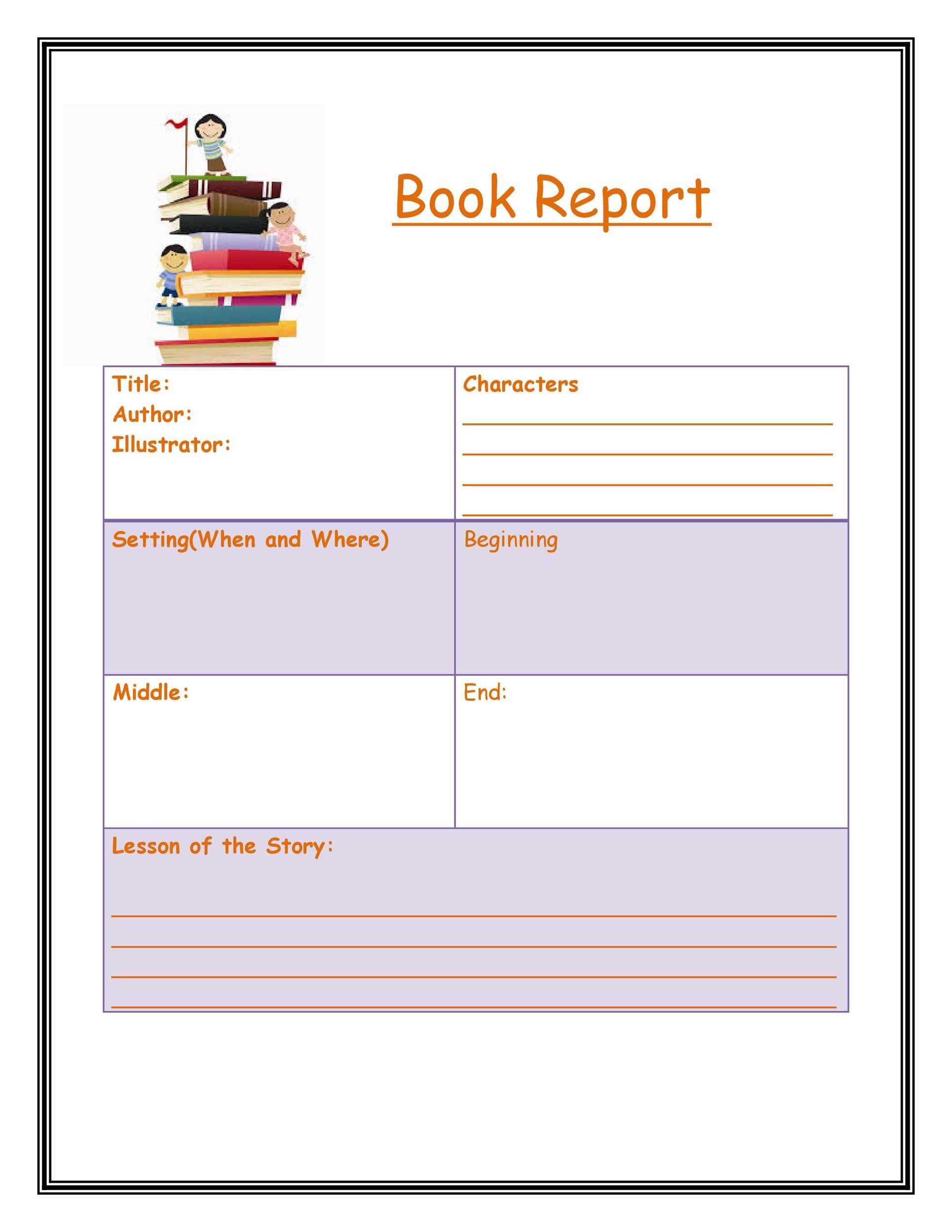Book Report Template Free