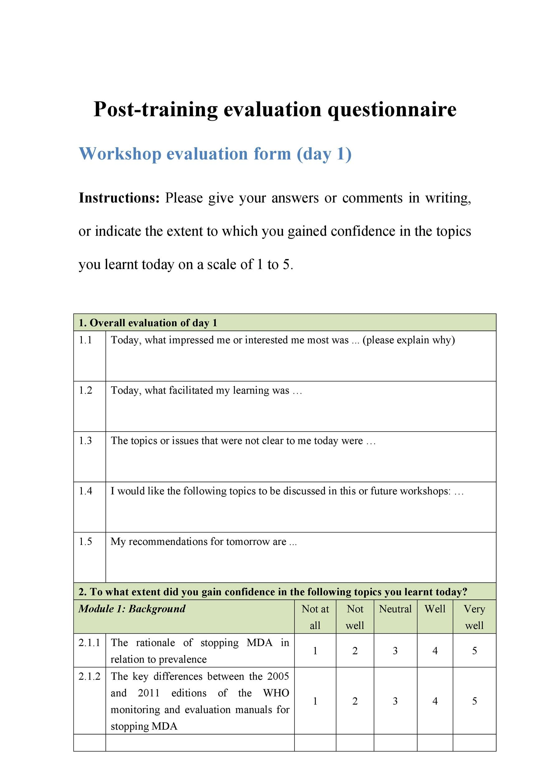 Printable Survey Template That Are Effortless