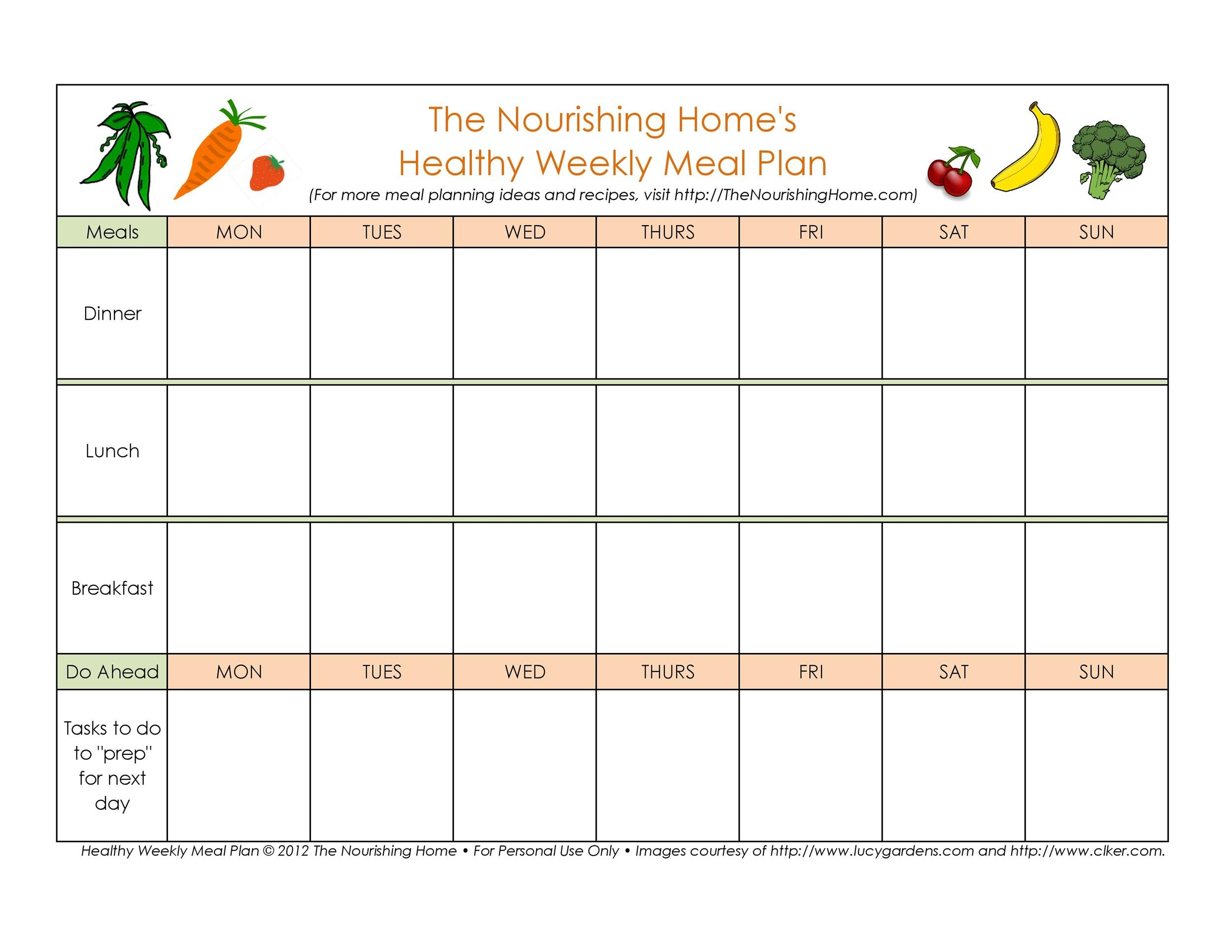 Meal Plan Template 02 783 697