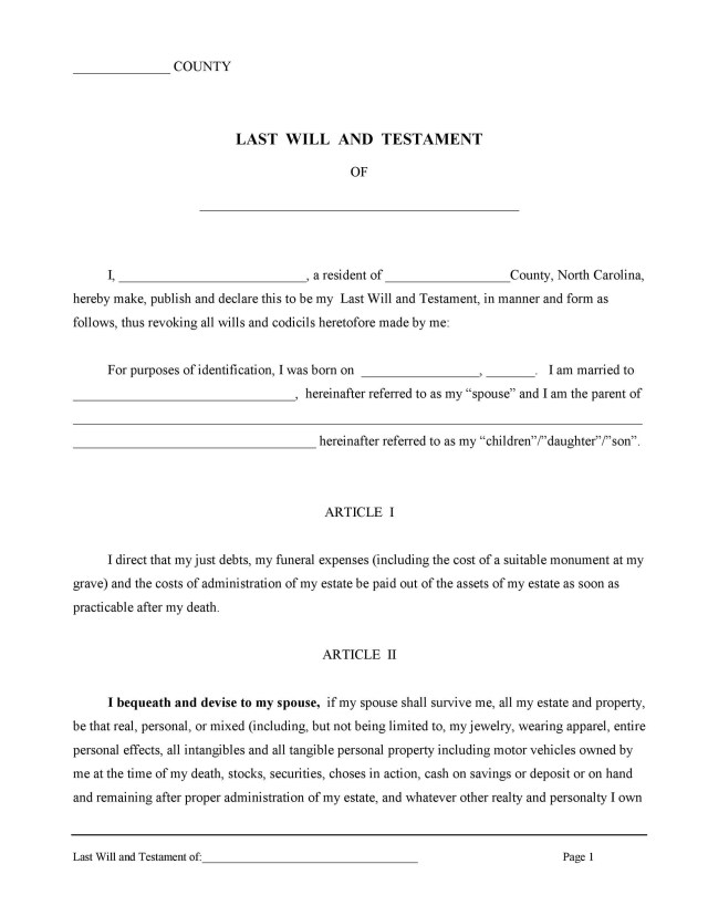 16 Last Will and Testament Forms & Templates ᐅ TemplateLab