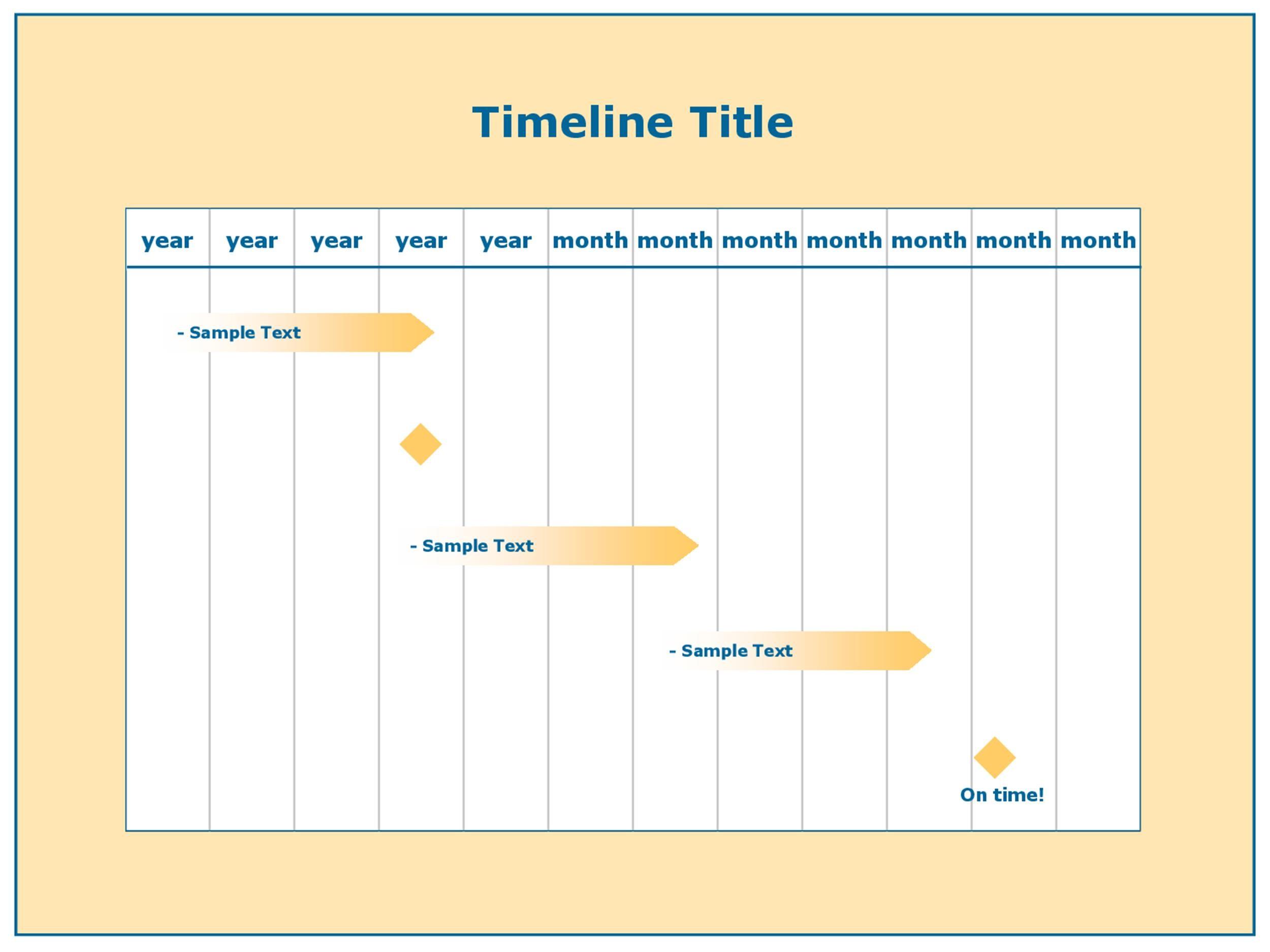 Unforgettable Printable Timelines