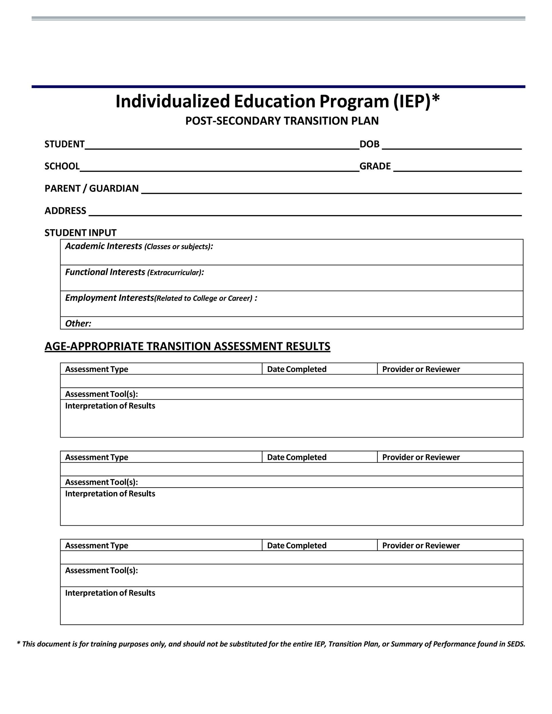 Career Interest Inventory For Middle School Students