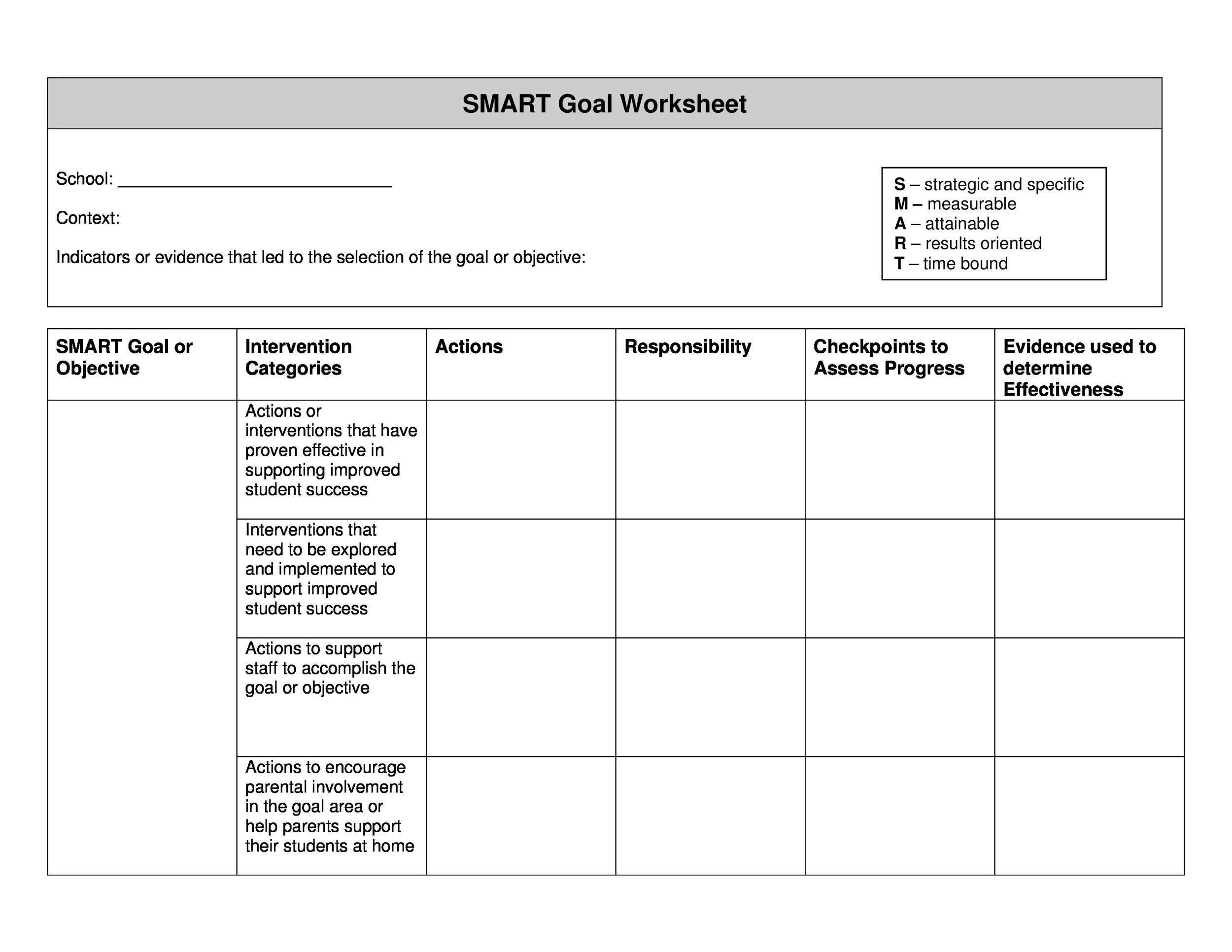 48 Smart Goals Templates Examples Amp Worksheets Template Lab
