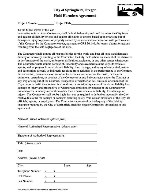 18+ Hold Harmless Agreement Templates (Free) ᐅ TemplateLab