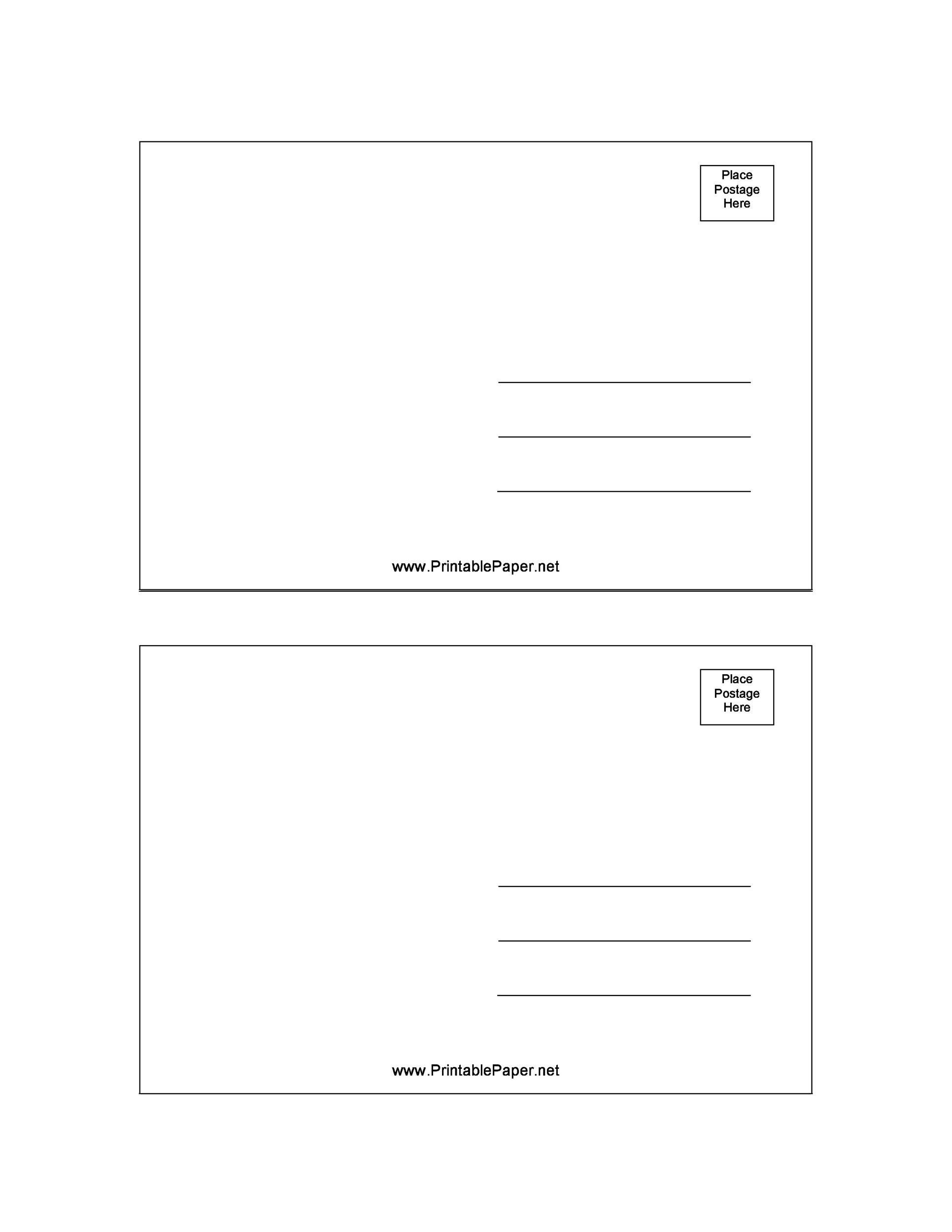 40 Great Postcard Templates Amp Designs Word