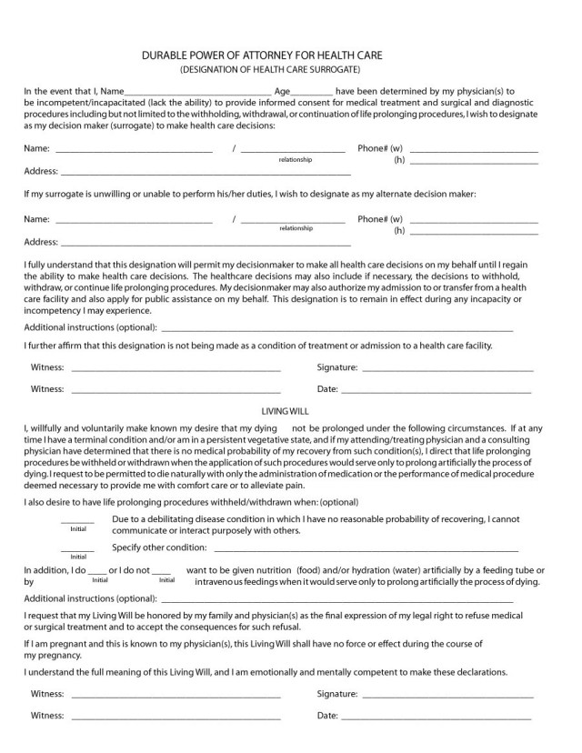 Power Of Attorney Forms Templates