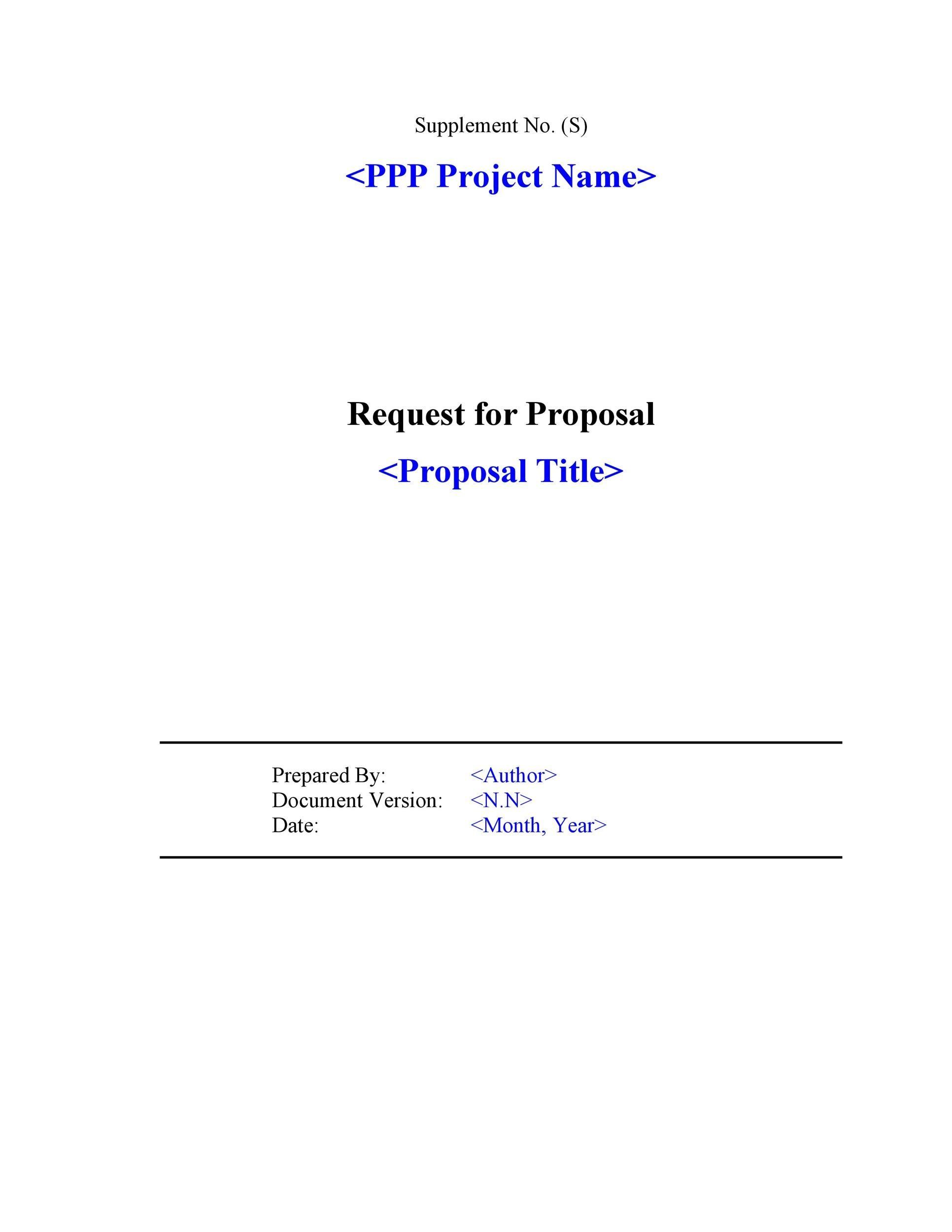 Bidding Template sample of contractor proposal new calendar site – Bidding Template