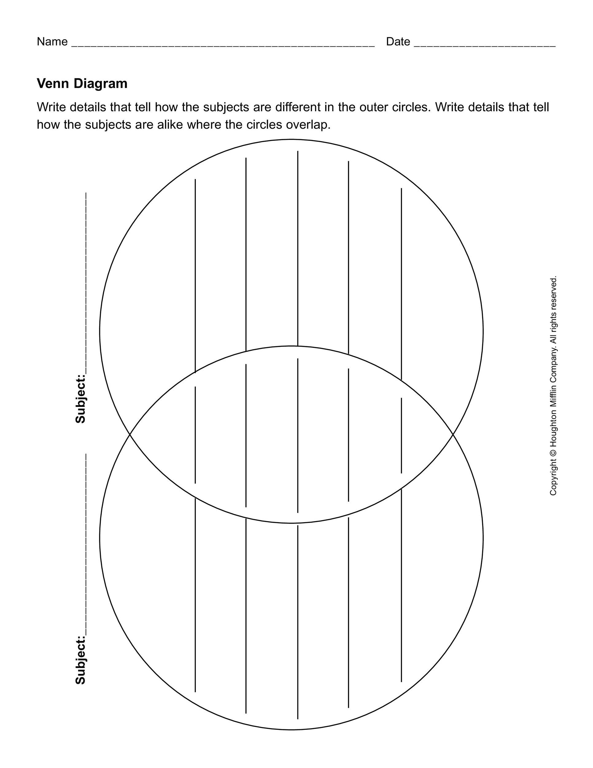 40 Free Venn Diagram Templates Word Templatelab
