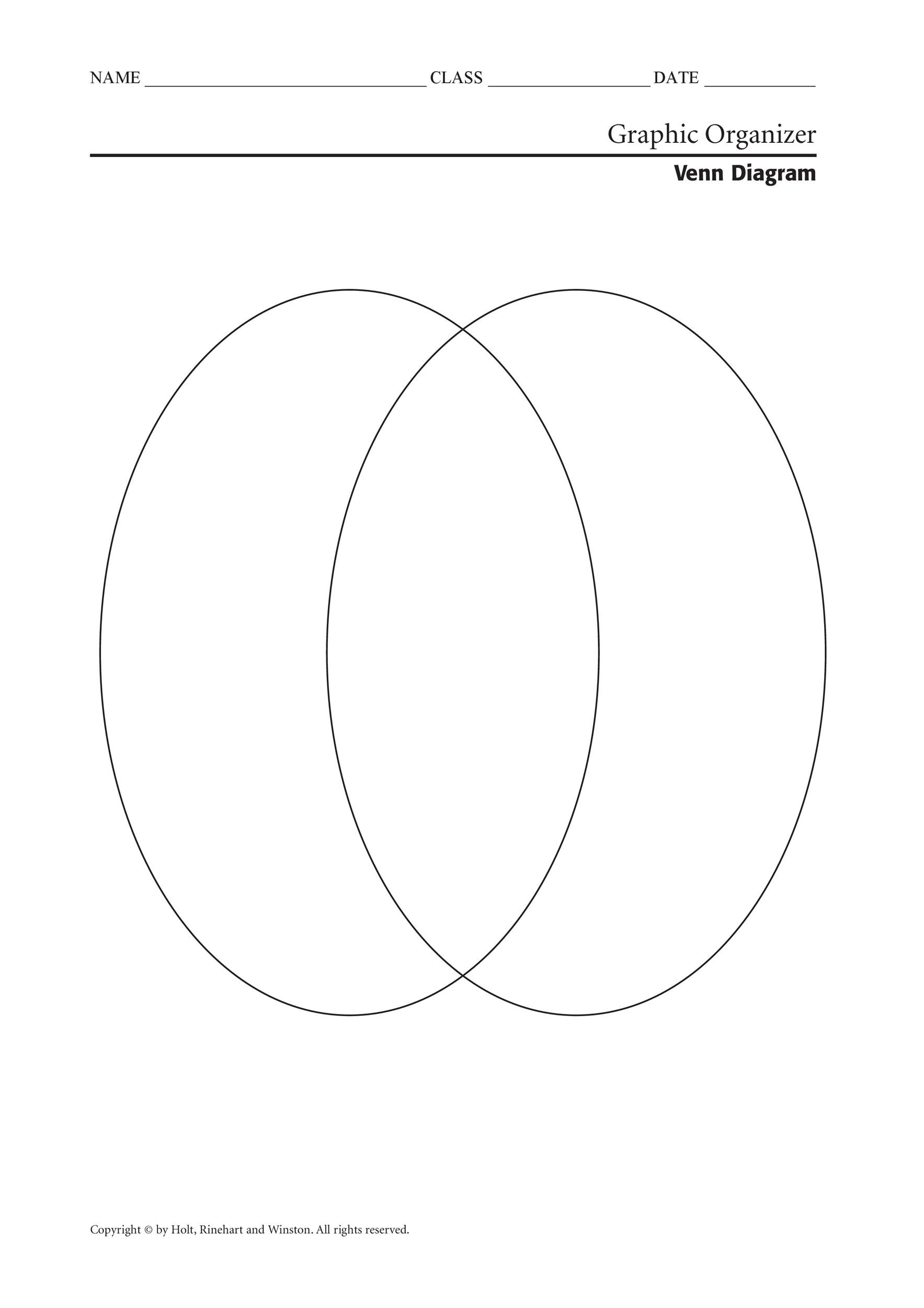 Printable Venn Diagram 2 Circles