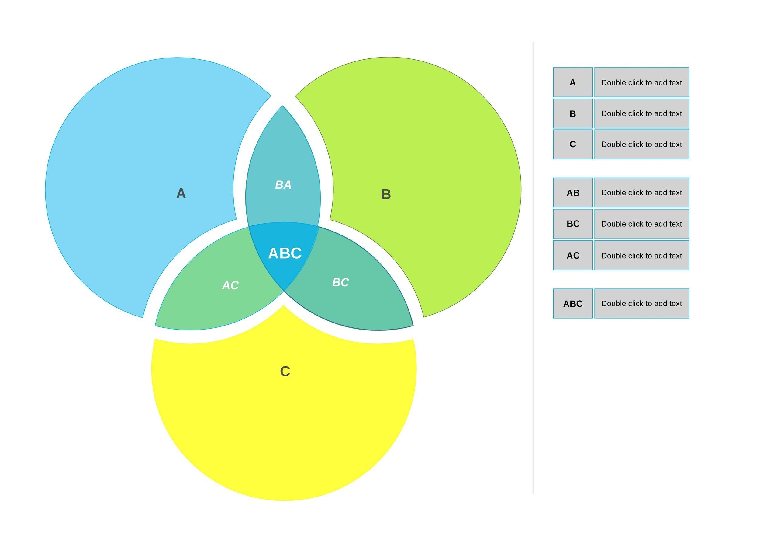 40 Free Venn Diagram Templates Word Templatelab