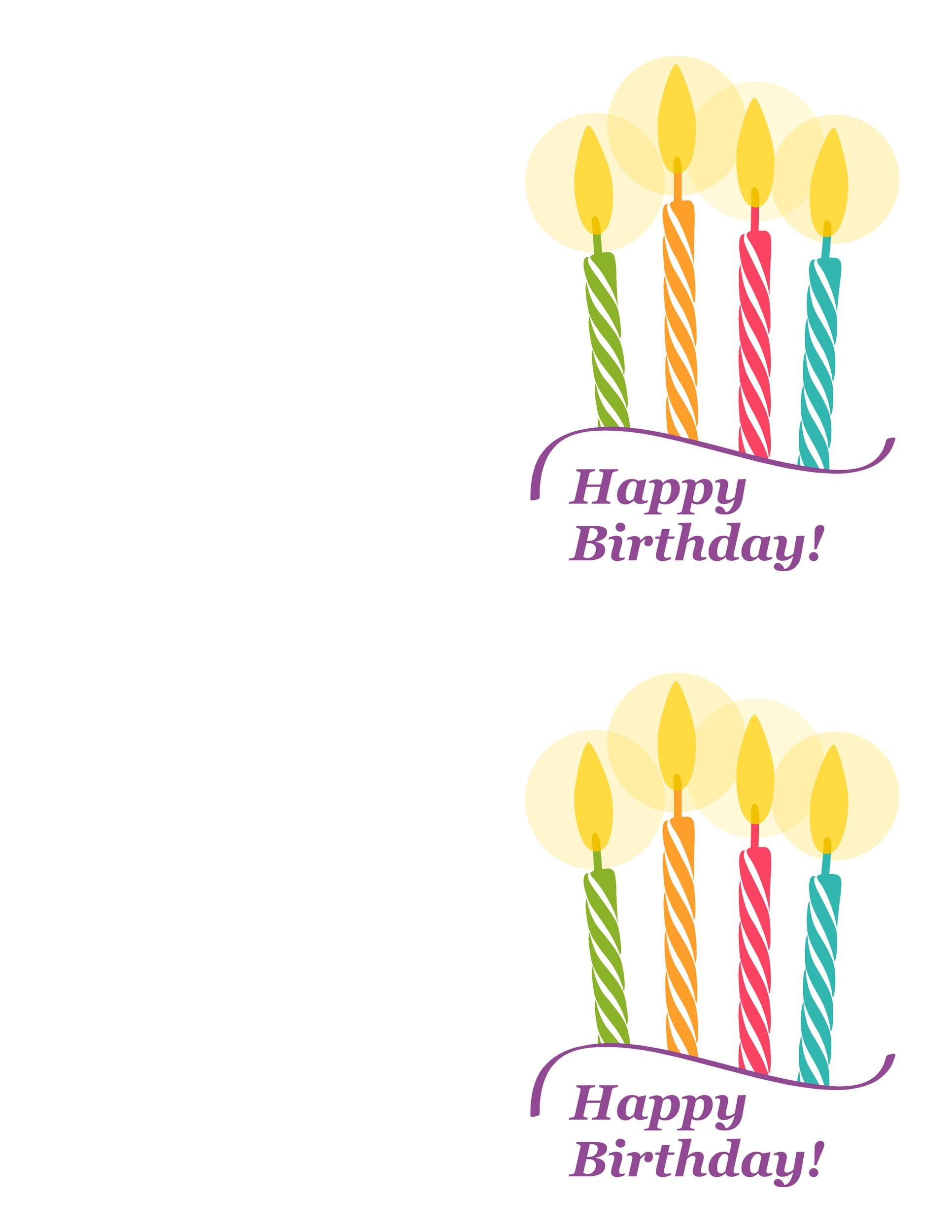 Print Birthday Card Template free free 5 best images of free – Foldable Birthday Cards