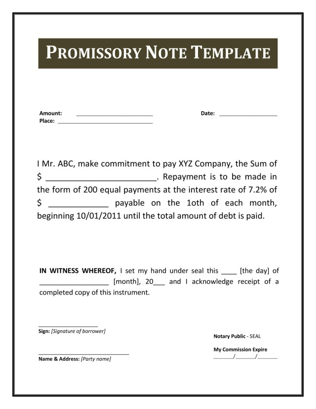 Blank Promissory Note - FREE DOWNLOAD