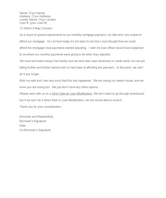 35 Simple Hardship Letters Financial