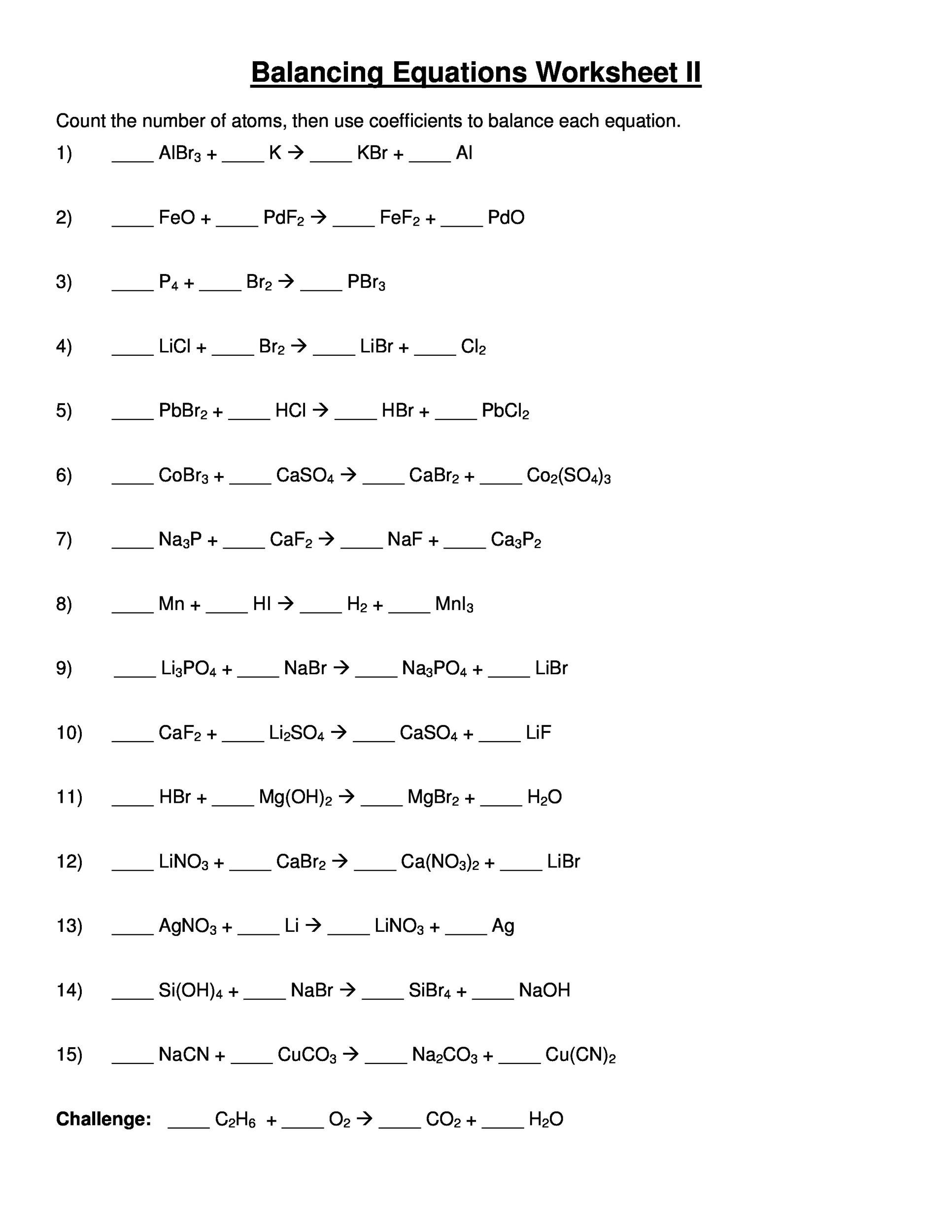 Chemistry Periodic Table Worksheet Ii Answers