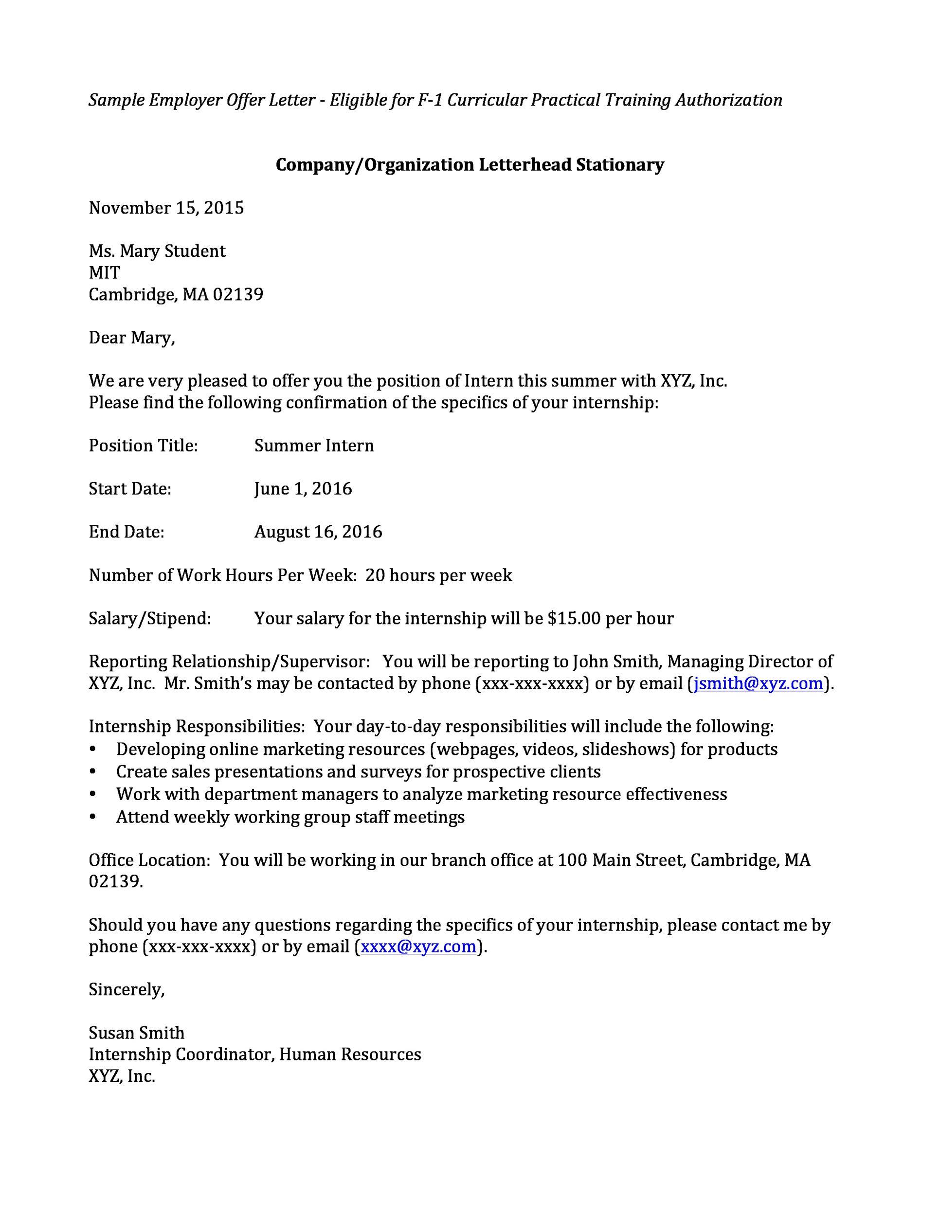 Sample Letter For Job Offer Negotiation Cover Letter Sample
