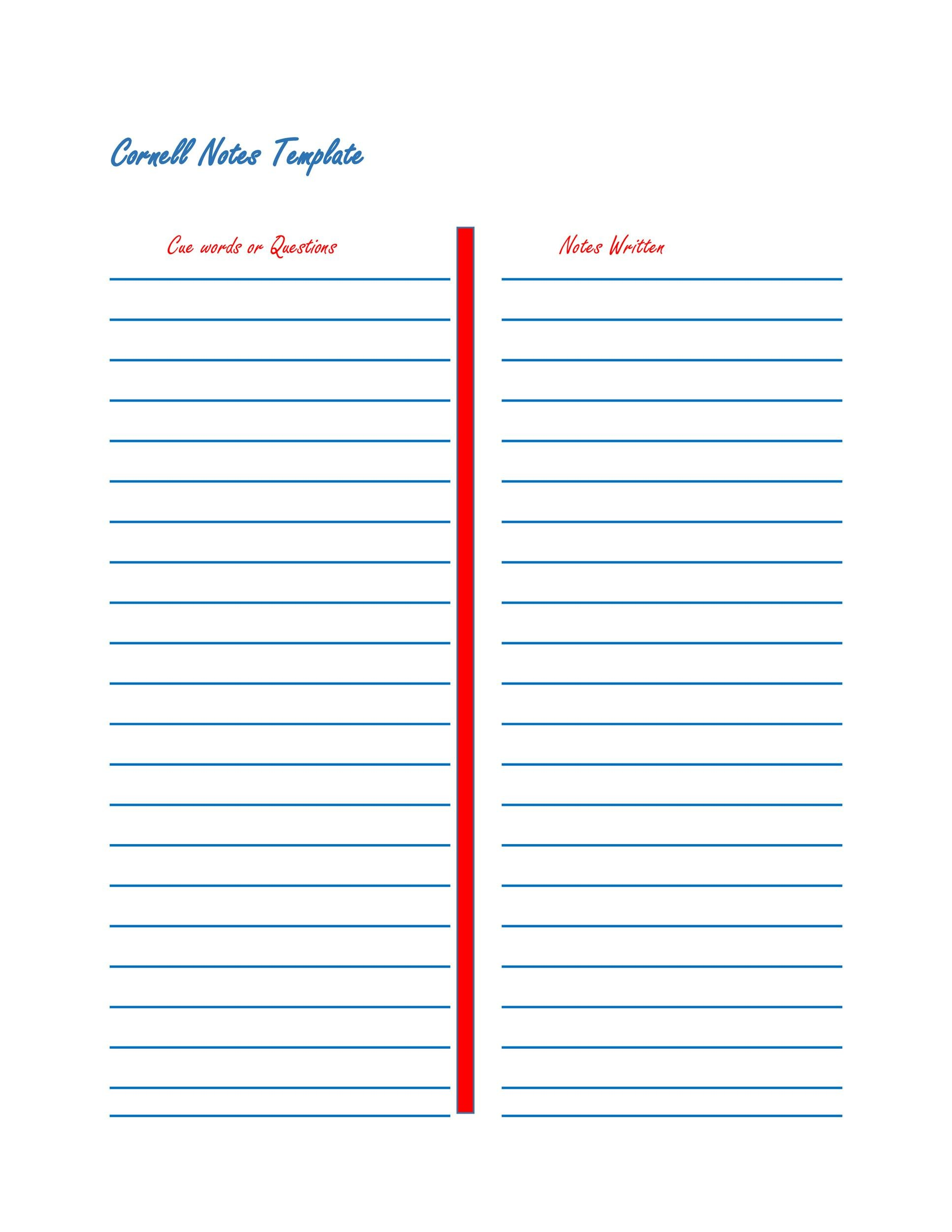 37 Cornell Notes Templates Amp Examples Word Excel