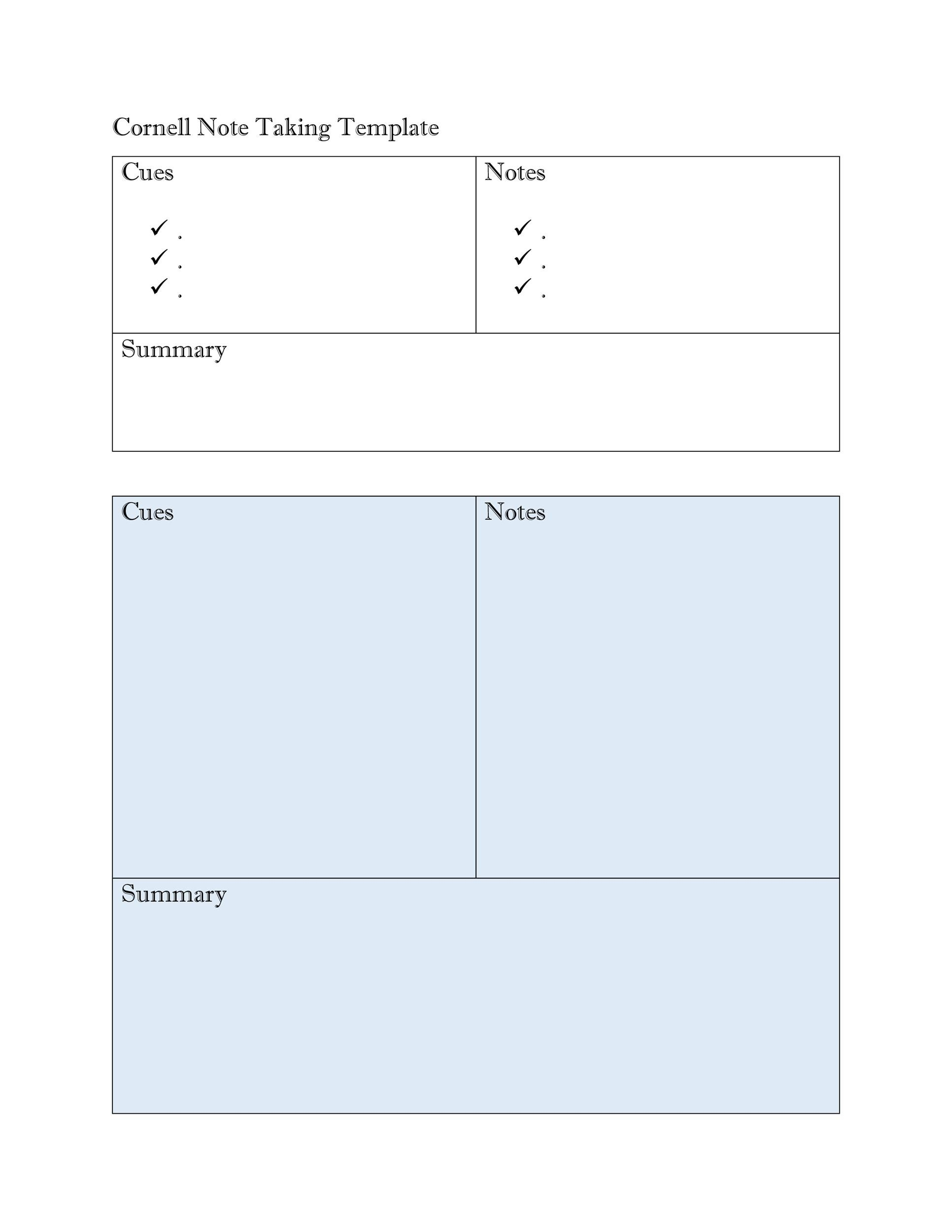 36 Cornell Notes Templates Amp Examples Word