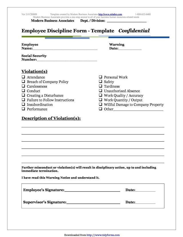 8 Effective Employee Write Up Forms [+ Disciplinary Action Forms]